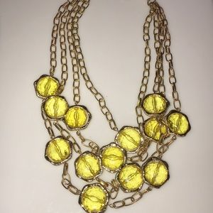 Jewelry - 5/$15 Gorgeous Vintage Acrylic Gold Metal Necklace